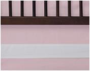 Oilo Woven Cotton Band Crib Skirt, Blush