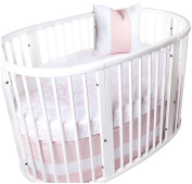Oilo Stokke Sleepi Capri Crib Sheet, Blush