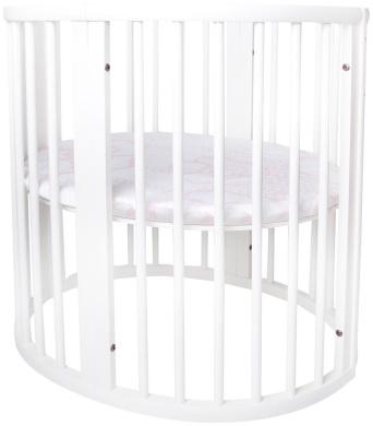Oilo Stokke Mini Capri Crib Sheet, Blush