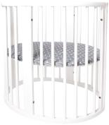 Oilo Stokke Sleepi Finn Crib Sheet, Charcoal