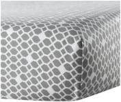 Oilo Diamond Crib Sheet, Stone