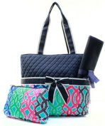 Quilted Vine 3pc Nappy Bag Set