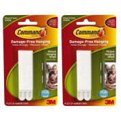Command Narrow Picture Hanging Strips, White, 8-Sets