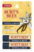 Burt's Bees 100% Natural Moisturising Lip Balm, Vanilla Bean, 2 Tubes in Blister Box