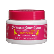 Victoria Soaps of Sweden Swedish Body Care Shea Butter Scrub, Honey and Lingonberry, 8.5 Fluid Ounce