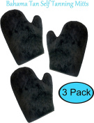 New! 3 Pack, Bahama Tan Self Tanning Mitt with Thumb, Double Sided, Washable, Ultra Soft Applicator Glove for a Flawless, Streak Free Tan. Premium Sunless Tanner Mitts best for Spray, Lotion, Mousse.