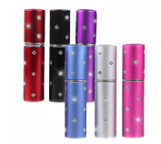 3PCS 5ML Empty Refillable Mini Assorted Colour Perfume Atomizer Bottle Case Spray Scent Pump Case for Travel