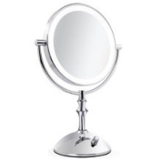 Makeup Mirror, PrettyMakeUp 20cm Tabletop Two-Sided Swivel with 10x Magnification Lighted Makeup Mirror 360 Degree Rotation for Beauty Travel Skin Care Vanity Mirror