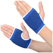 A Pair Knitting Wrist Palm Protective Support Wrist Wrap Support Fingerless Gloves Pain Relief Band for Sports Protect