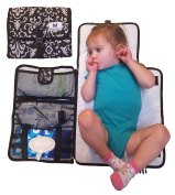 Luxury All in One Portable / Travel Nappy Changing Pad / Mat, Black & White