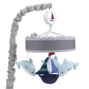Lambs & Ivy Nautical Musical Mobile, Blue/Grey