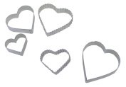 Hearts Cookie / Biscuit Cutter Set 4.9 cm - 8.5 cm