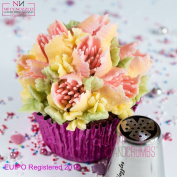 Piping Nozzles for Scented Tulip Cake Decoration - Made of Food Grade, Dishwasher and Rust Proof Stainless Steel - 19-L