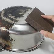 Caxmtu 3Pcs Magic Carborundum Brush Sanging Sponge for Pot Teapot Kettle Descaling Clean Large Area Flexible
