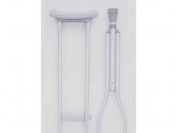 Essential Medical Supply Endurance Aluminium Crutches with Easy Height Adjustment and Grey Pads in Tall Adult Size