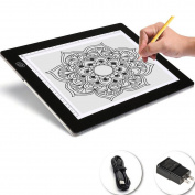 Bestgoo Led A4 Tracing Light Box Board Table Pad Ultra-tin with Usb Power & Cable, Artist Tattoo Drawing Drafting Graphics Tablet with 3 Dimmable Level on One Key
