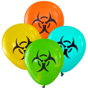 Biohazard Symbol Balloons (16 pcs) by Nerdy Words