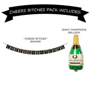 """""""Cheers B*tches"""" Bachelorette Party Banner Set – Bachelorette Party Decorations, Favours, and Supplies"""