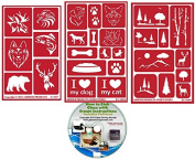 Wild & Domesticated Animal Stencils (3) Pack , Over N Over Reusable + How to Etch CD