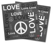 WraptorSkinz Vinyl Craft Cutter Designer 12x12 Sheets Love and Peace Grey - 2 Pack