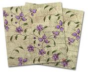 WraptorSkinz Vinyl Craft Cutter Designer 12x12 Sheets Flowers and Berries Purple - 2 Pack