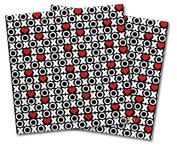 WraptorSkinz Vinyl Craft Cutter Designer 12x12 Sheets XO Hearts - 2 Pack