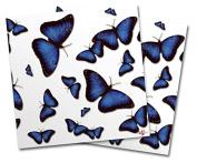 WraptorSkinz Vinyl Craft Cutter Designer 12x12 Sheets Butterflies Blue - 2 Pack