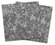 WraptorSkinz Vinyl Craft Cutter Designer 12x12 Sheets Triangle Mosaic Grey - 2 Pack