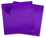 WraptorSkinz Vinyl Craft Cutter Designer 12x12 Sheets Raining Purple - 2 Pack
