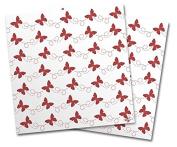 WraptorSkinz Vinyl Craft Cutter Designer 12x12 Sheets Pastel Butterflies Red on White - 2 Pack