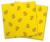 WraptorSkinz Vinyl Craft Cutter Designer 12x12 Sheets Anchors Away Yellow - 2 Pack