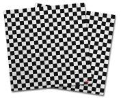 WraptorSkinz Vinyl Craft Cutter Designer 12x12 Sheets Chequered Canvas Black and White - 2 Pack