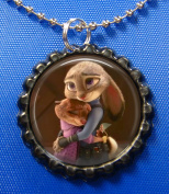 1 ZOOTOPIA Black Bottle Cap Pendant Necklace #4