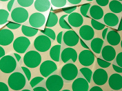 33mm (1.3 inch) Round Circular Mid Green Colour Code Stickers, 90 Self-Adhesive Circular Sticky Coloured Labels