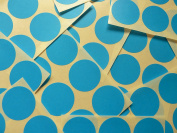 33mm (1.3 inch) Round Circular Mid Blue Colour Code Stickers, 90 Self-Adhesive Circular Sticky Coloured Labels