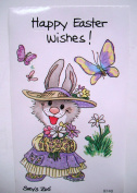 Suzy Zoo Easter Wishes Violet Rabbit Sticker