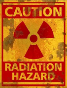 Radiation Hazard Sign - Halloween Decor Prop Road and Lawn Decoration Sticker