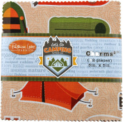 Let's Go Camping Charms 42 13cm Squares Charm Pack Patrick Lose Fabrics
