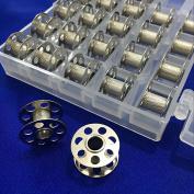 YEQIN 25PCS Metal BOBBINS With clear Box # 0115367000-B Alt# 0015367200 Bernina