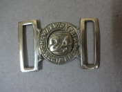 British Zulu War 2nd Warwickshire 24th Regiment of Foot Belt Buckle - Repro