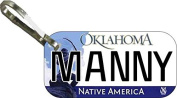 Personalised Oklahoma 2009 Zipper Pull State Licence Plate Replica