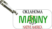 Personalised Oklahoma 1994 Zipper Pull State Licence Plate Replica