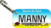 Personalised North Dakota 1993 Zipper Pull State Licence Plate Replica