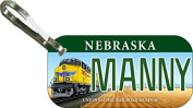 Personalised Nebraska Union Zipper Pull State Licence Plate Replica