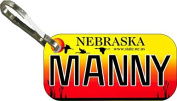 Personalised Nebraska 2002 Zipper Pull State Licence Plate Replica