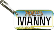 Personalised Montana 2006 Zipper Pull State Licence Plate Replica