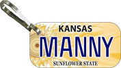 Personalised Kansas Sunflower Zipper Pull State Licence Plate Replica