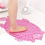 Non-Slip Bathmat, PVC Bath/Shower Mat, Toilet Floor transparent Pebble Safety Pad, Bathroom Rugs Mat for Children Kids Adults - 72 x 36cm