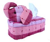 Tissue Box Cover Thai Handmade Elephant Fabric Stuffed Cotton Napkin Thai Asian Style