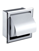 LI Wall Mount Stainless Steel Tissue Roll Covers Toilet Paper Holder Container Box For Bathroom